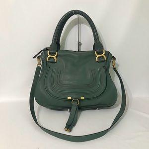 Authentic Chloe Medium Marcie Double Carry Green